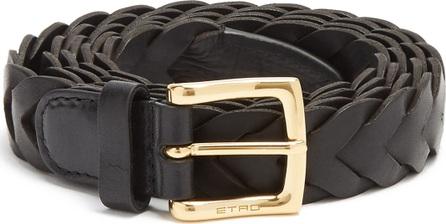 Etro Braided-leather belt
