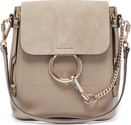 Chloe 'Faye' small suede flap leather backpack