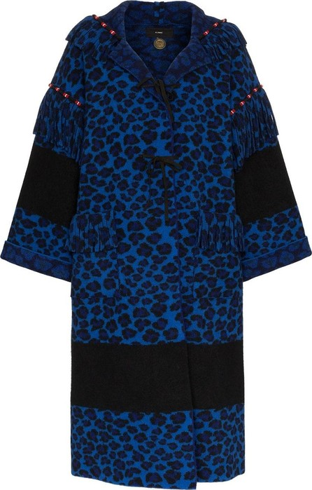 Alanui Animalier knit wool coat