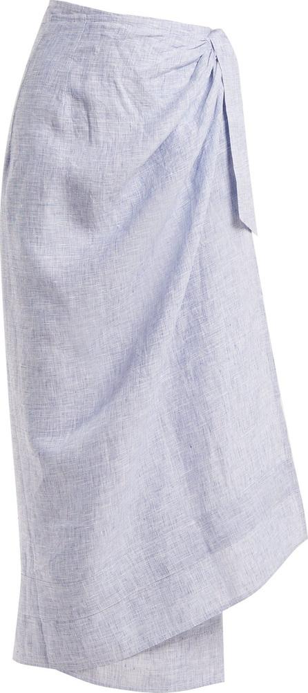 Wiggy Kit Sundowner linen chambray wrap skirt