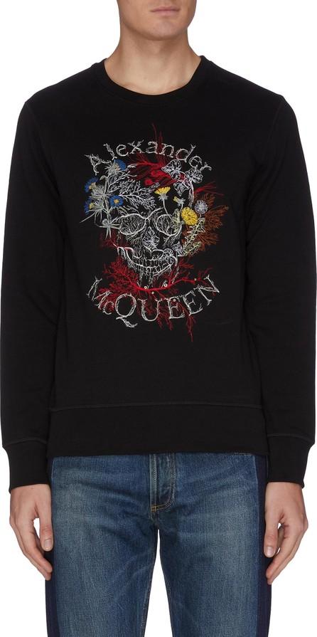 Alexander McQueen Floral skull print sweatshirt