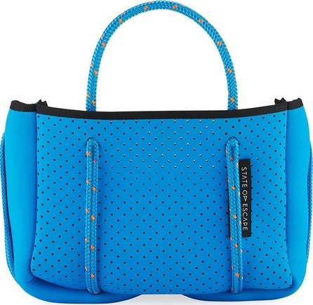 State of Escape Perforated Neoprene Small Crossbody Bag, Bright Blue