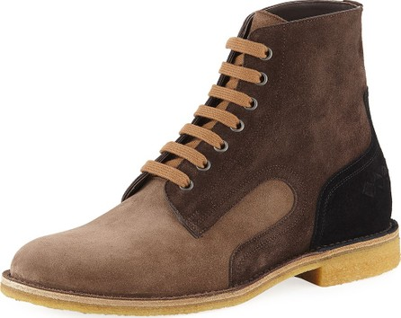 Bottega Veneta Men's Spritz Suede Lace-Up Boots