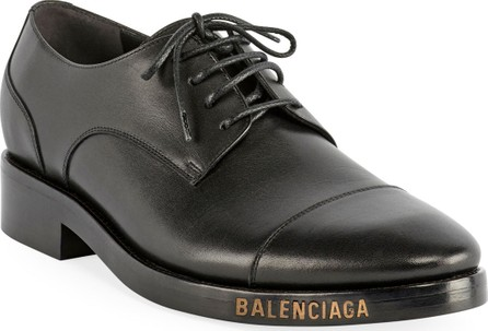 Balenciaga Men's Leather Derby Shoes