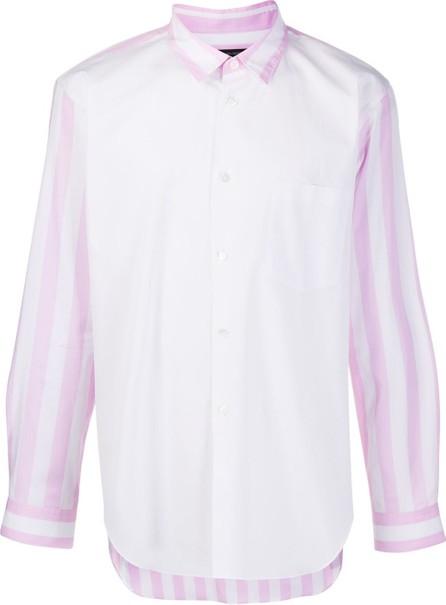 Comme Des Garçons Homme Plus Striped panel print shirt