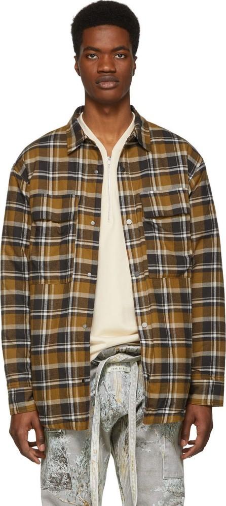 Fear of God Brown Plaid Flannel Shirt Jacket