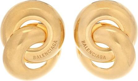 Balenciaga Twin gold-toned earrings