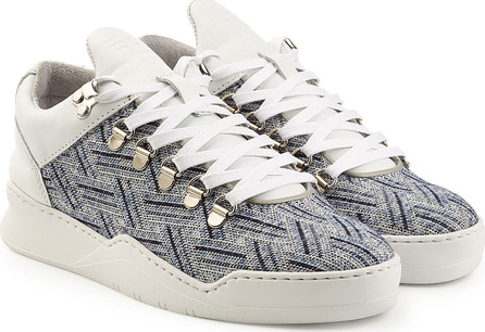 Filling Pieces Mountain Cut Platform Sneakers with Leather