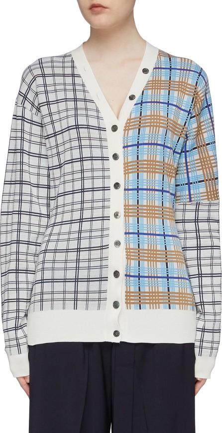 Aalto Colourblock patchwork check plaid cardigan
