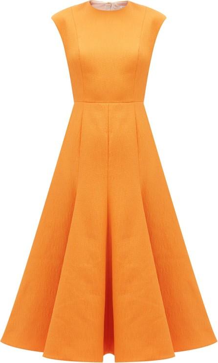 Emilia Wickstead Denver flared cloqué midi dress