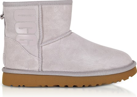 UGG Mini Classic Ugg Rubber Logo Feather Boots