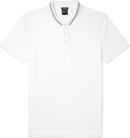 HUGO BOSS Contrast-Tipped Cotton-Jersey Polo Shirt