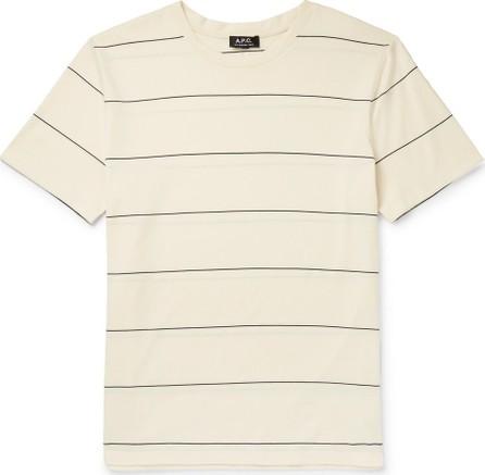 A.P.C. Yukata Striped Cotton-Jersey T-Shirt