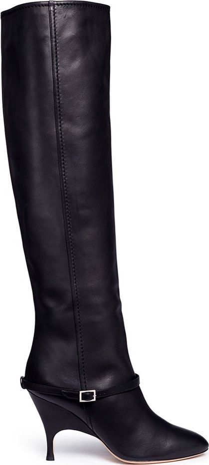 Alchimia Di Ballin 'Titan' belted nappa leather knee high boots