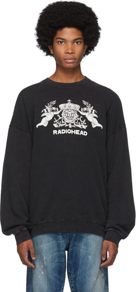 R13 Black Bearhead Crest Sweatshirt