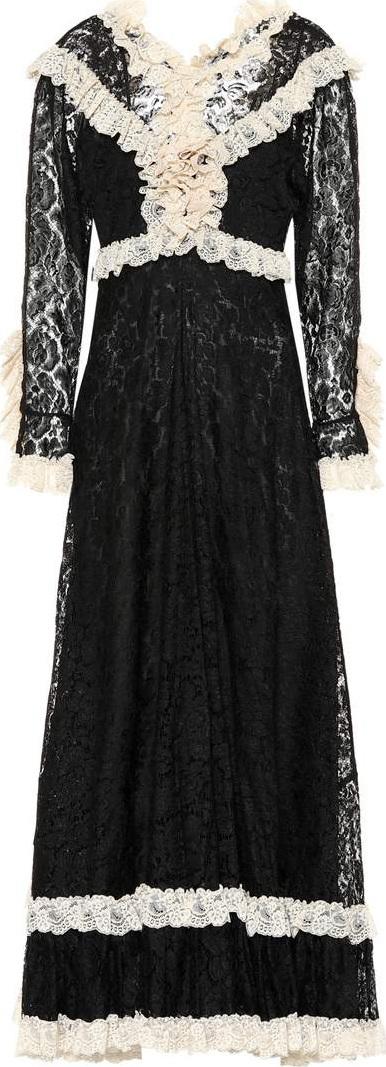 Gucci Ruffled lace dress
