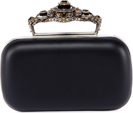 Alexander McQueen Box Leather Clutch Bag