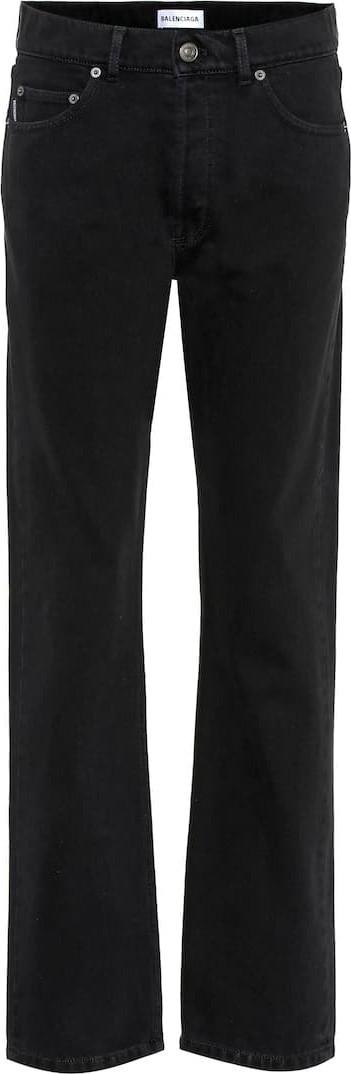 Balenciaga Distressed mid-rise straight jeans