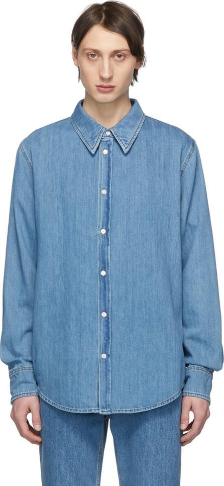 Calvin Klein 205W39NYC Blue Denim 'Jaws' Shirt