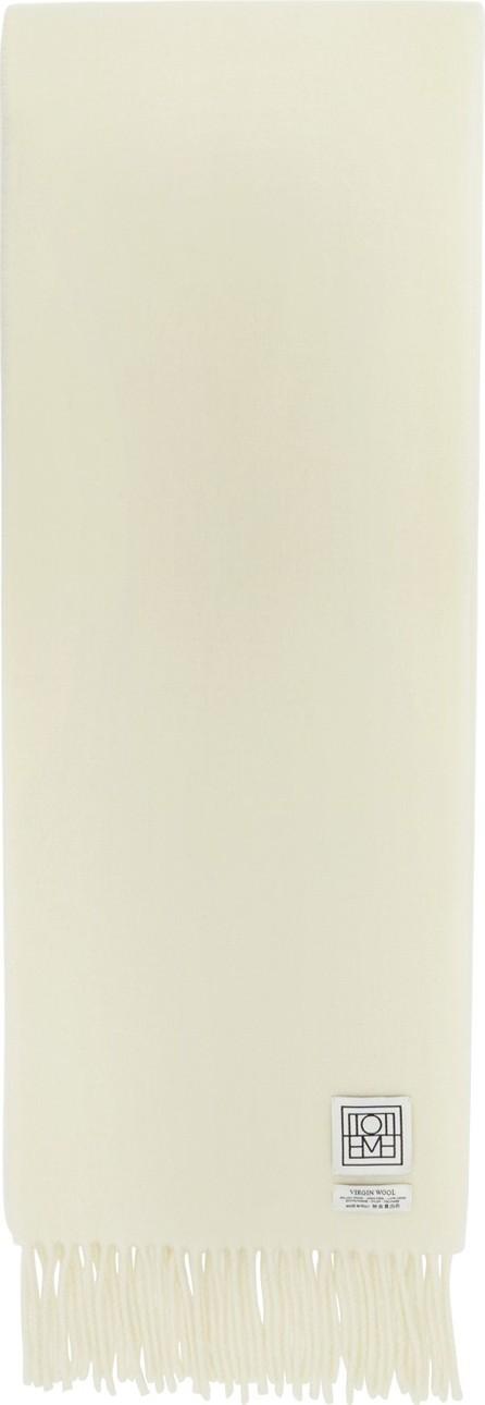 Totême Off-White Wool Bova Scarf