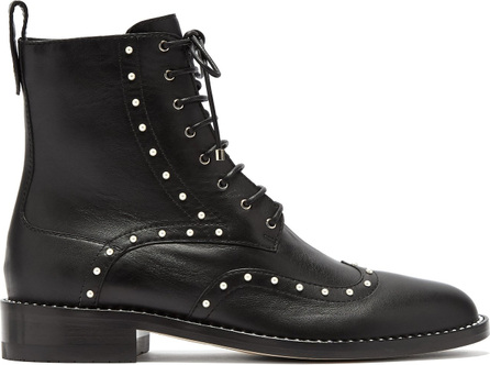 Jimmy Choo Hanah faux-pearl studded leather boots
