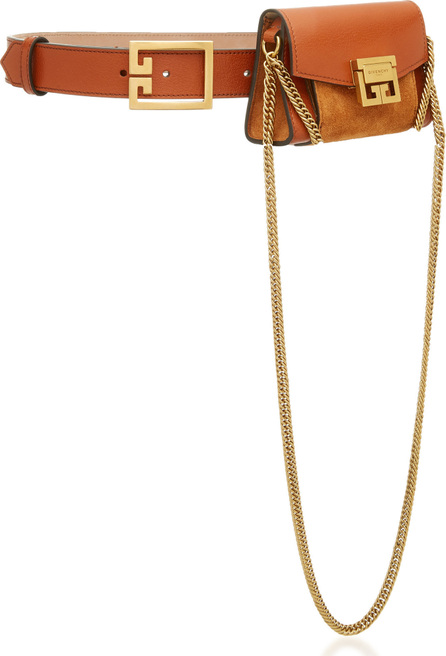Givenchy Nano Leather and Suede Belt Pouch