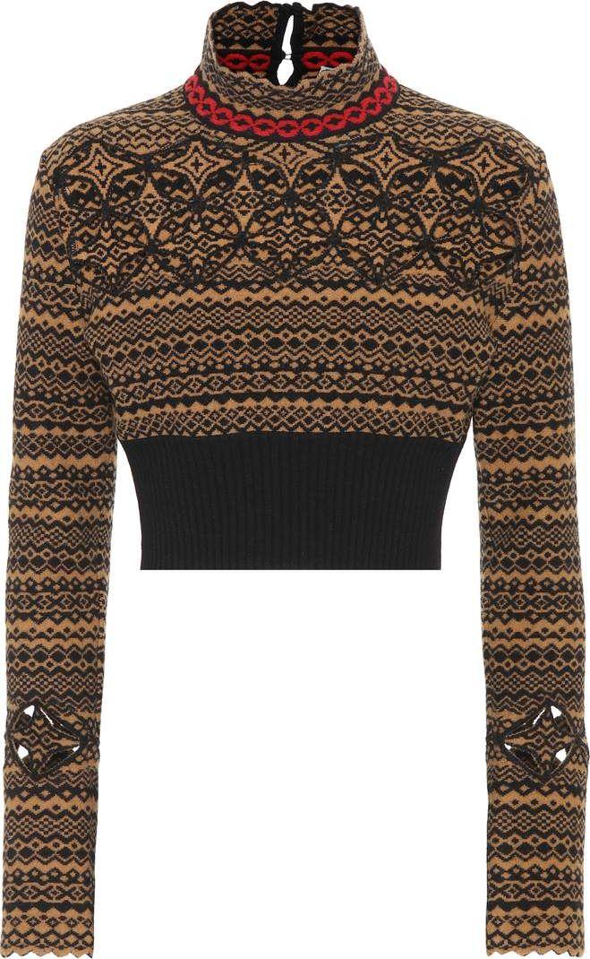 Fendi - Cropped wool-blend sweater