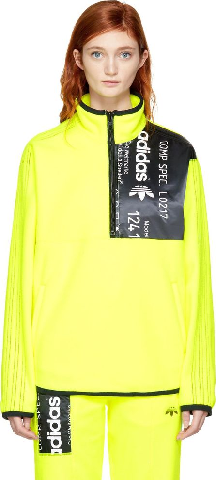Adidas Originals by Alexander Wang Yellow Polar Fleece Half-Zip Jacket