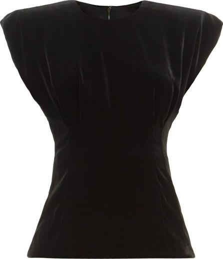 Dolce & Gabbana Padded-shoulder velvet top