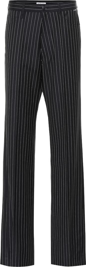 Balenciaga Striped wool and cashmere pants