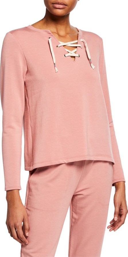 Beyond Yoga Lace-Up Active Pullover Sweater