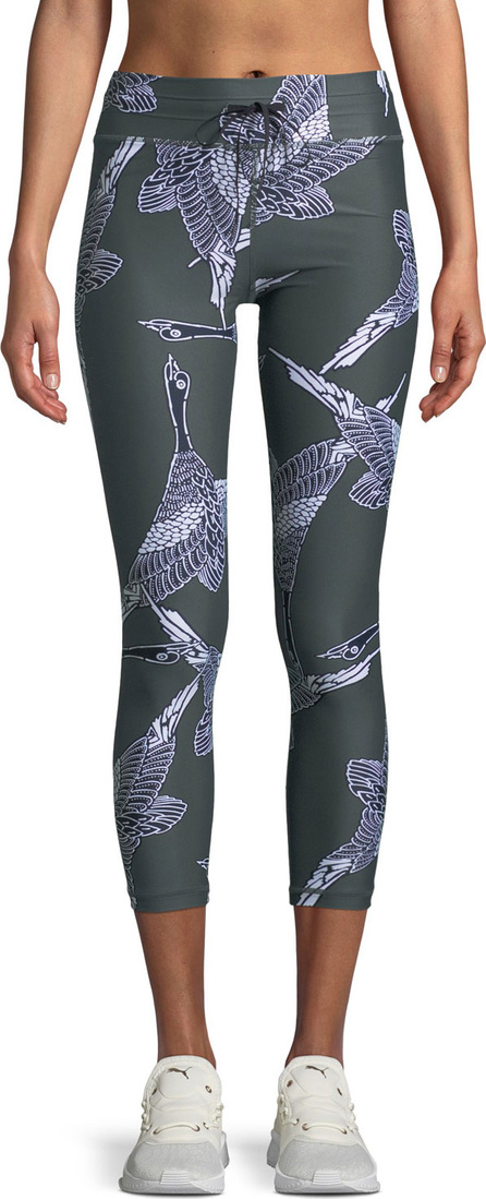 The Upside Mallard Printed Drawstring Midi Leggings