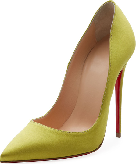 Christian Louboutin So Kate 120mm Crepe Satin Red Sole Pump