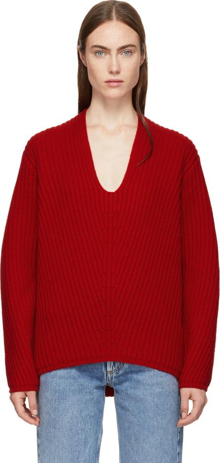 Acne Studios Red Wool Deborah V-Neck Sweater