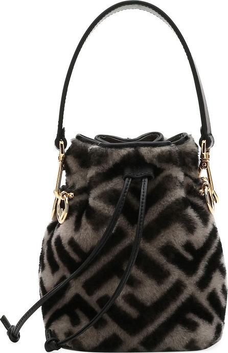 Fendi Mon Tresor FF Shearling Fur Bucket Bag