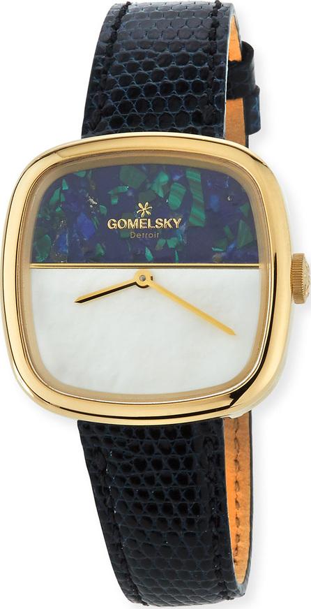 Gomelsky Eppie Lizard Strap Watch, Blue