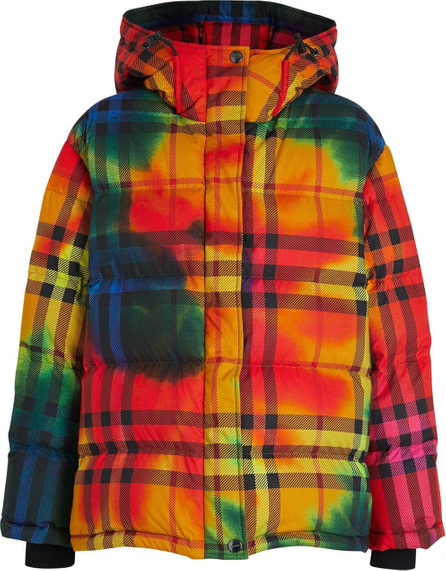 Burberry London England Tie-dye Print Vintage Check Puffer Jacket