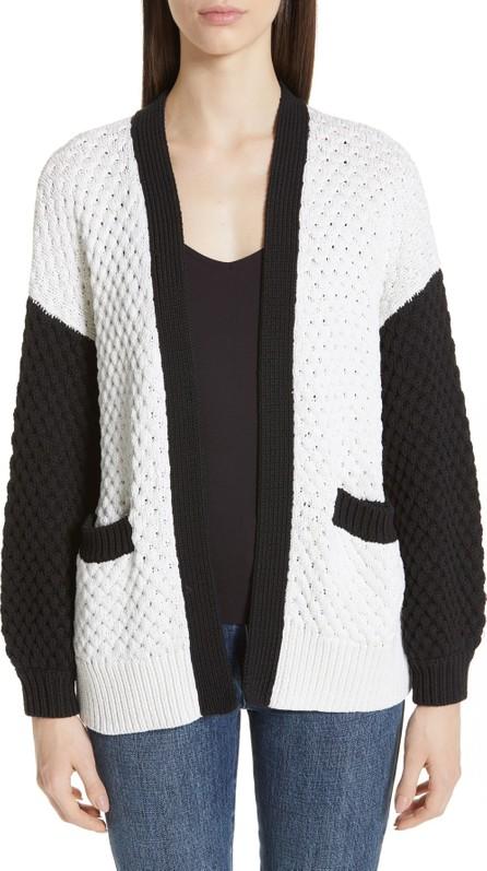 Co Colorblock Silk & Cotton Cardigan