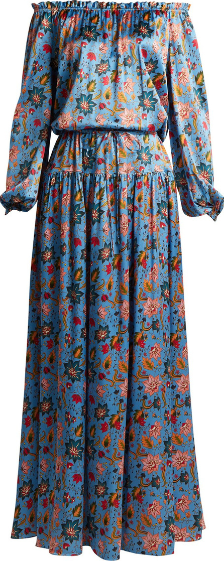 Adriana Iglesias Creek floral-print stretch-silk dress