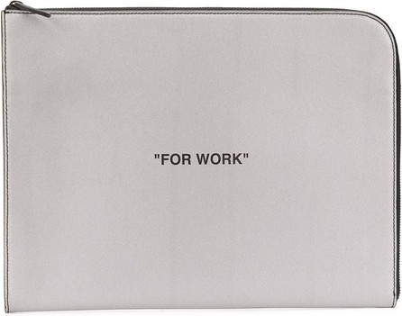 "Off White ""For Work"" clutch"