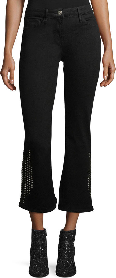 3X1 Cole Studded Crop Bell-Bottom Jeans