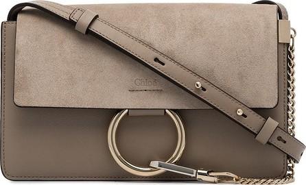 Chloe Grey Faye Suede Shoulder Bag