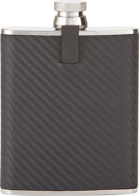 Dunhill Chassis Hip Flask, Black