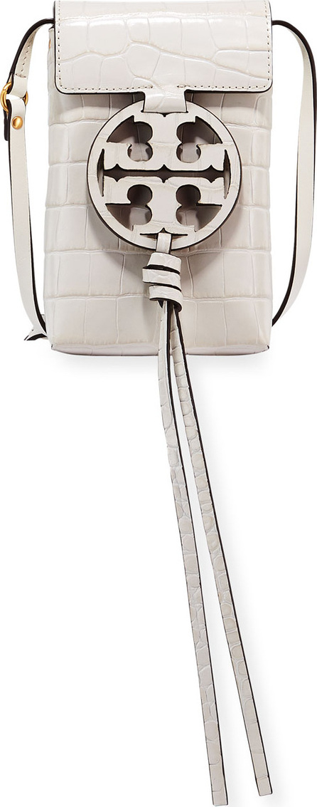 Tory Burch Miller Embossed Phone Crossbody Bag