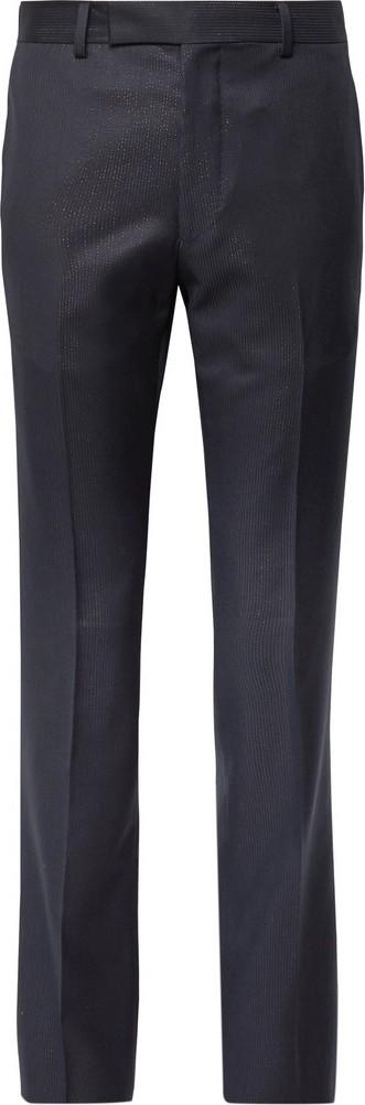 Wacko Maria Slim-Fit Striped Wool Trousers