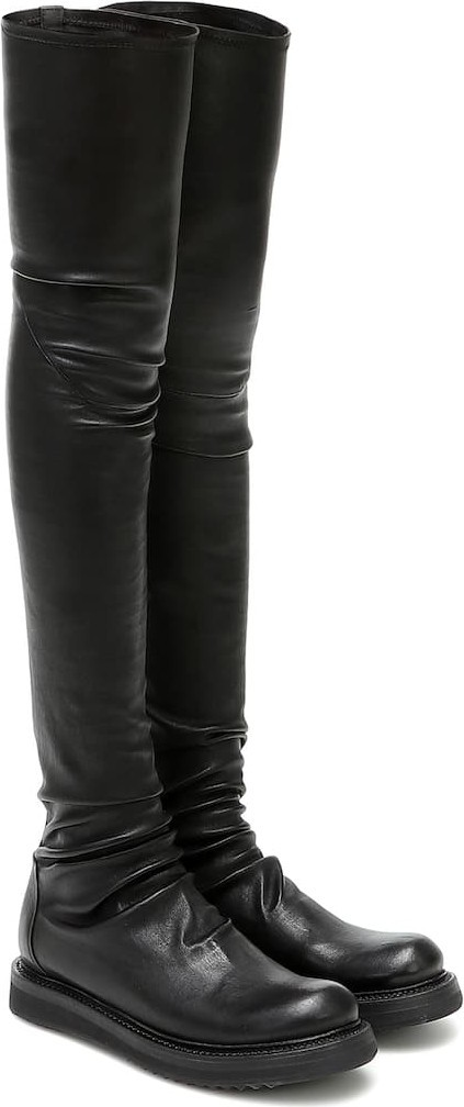Rick Owens Creeper Stocking over-the-knee boots