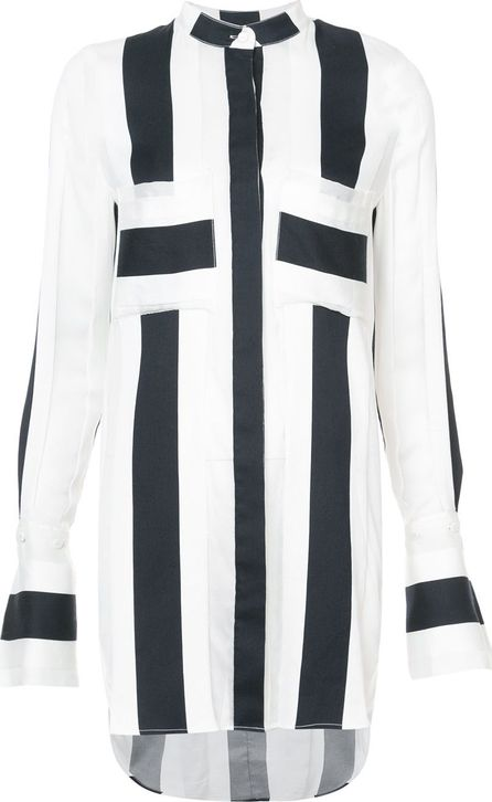 Adam Lippes striped long-line shirt