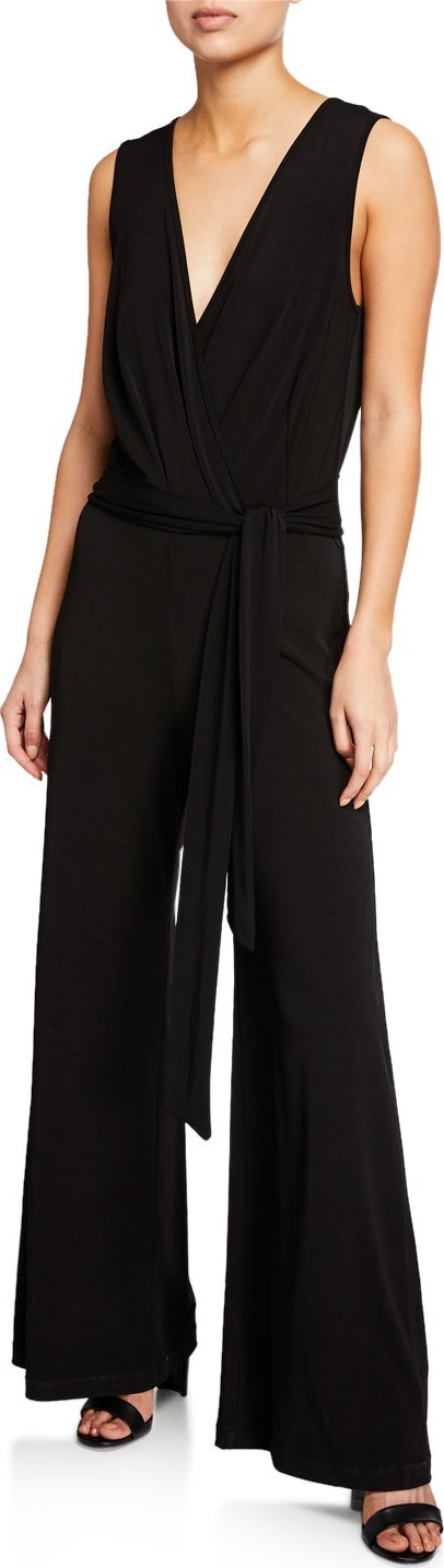 Anatomie Harper Sleeveless Wrinkle-Free Wide-Leg Jumpsuit