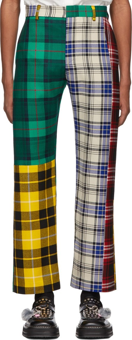 Charles Jeffrey Loverboy Multicolor Mixed Tartan Charles Trousers