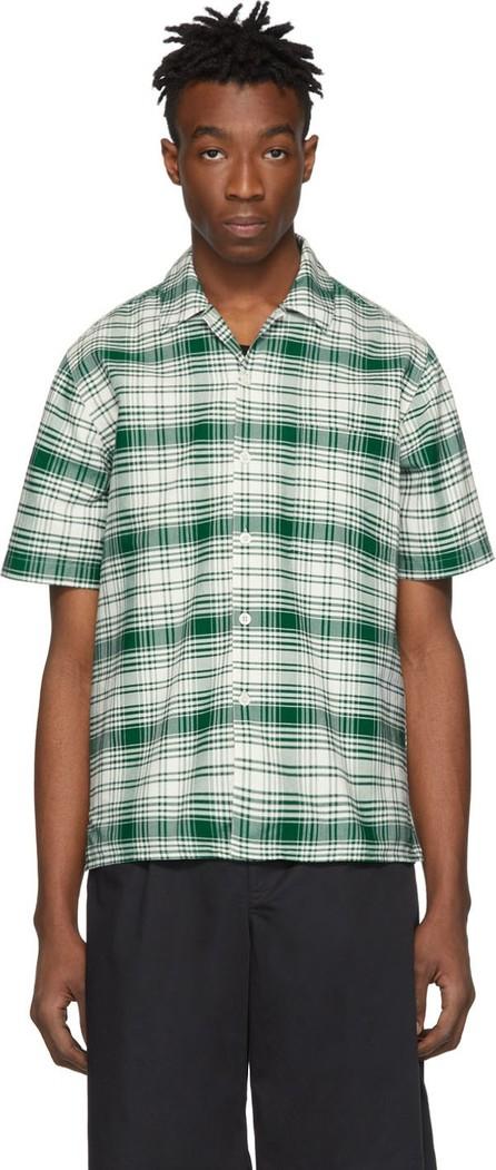 AMI Green & Off-White Check Shirt